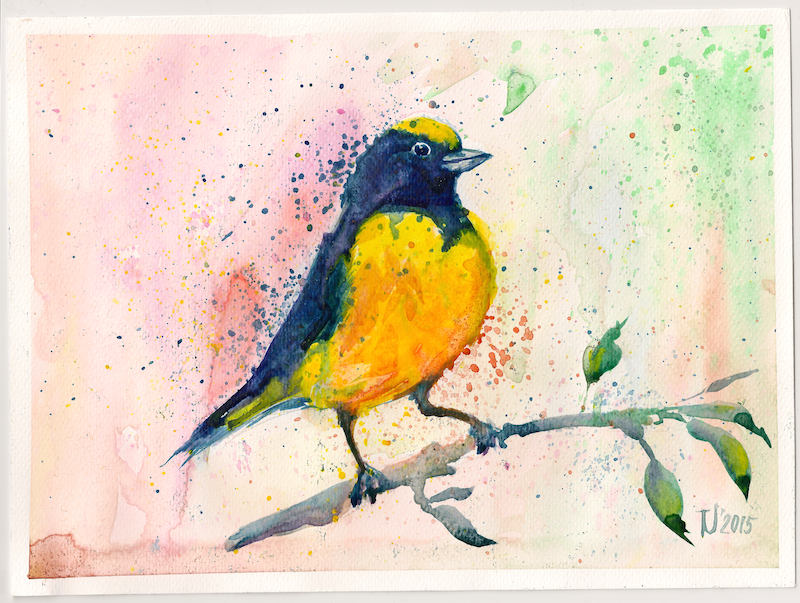 Yellow Bird painting — MilkAddict